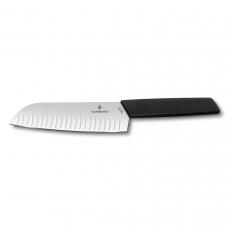 6.9053.17KB Нож кухонный Victorinox Swiss Modern, стальной, сантоку, 170 мм, черный,