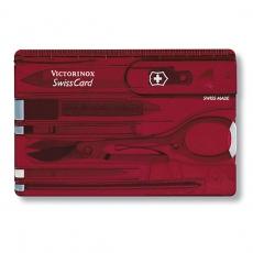 0.7100.T Швейцарская карточка Classic полупрозрачный красный.