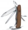 0.8361.63 Солдатский нож Victorinox ForesterWood, с фиксатором лезвия, рукоять из дерева