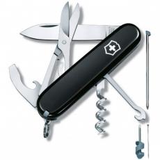 1.3405.3 Офицерский нож Compact / черный, 15 инструментов